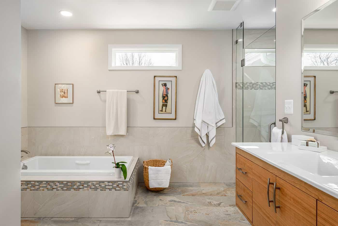 Master bathroom after renovation