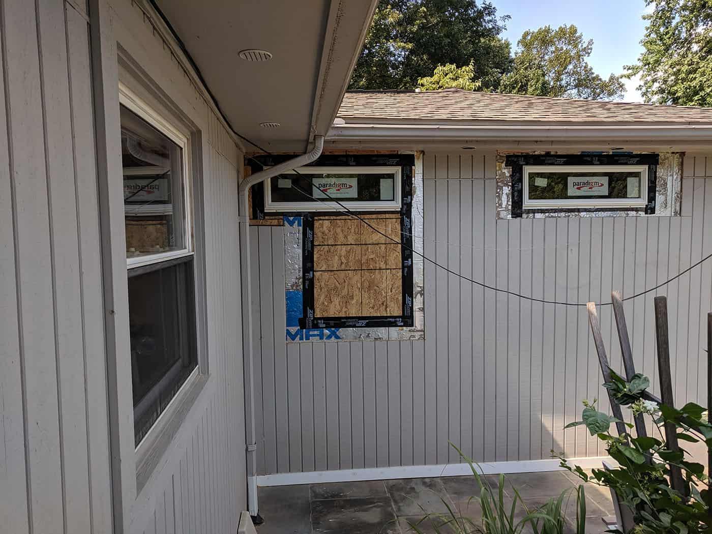 Transom windows: During